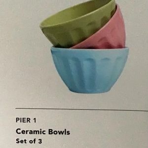 Pier 1 - New in box - set of 3 mini cerami…